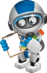 robot vector cartoon character design by GraphicMama - Notepad