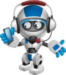 robot vector cartoon character design by GraphicMama - Support