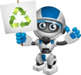 robot vector cartoon character design by GraphicMama - Recycle