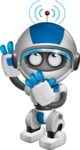 robot vector cartoon character design by GraphicMama - Wi-Fi