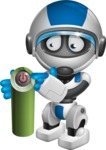 robot vector cartoon character design by GraphicMama - Power Button