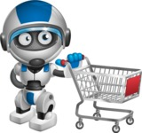 robot vector cartoon character design by GraphicMama - Shopping Cart