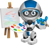 robot vector cartoon character design by GraphicMama - Artist