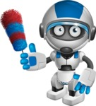 robot vector cartoon character design by GraphicMama - Cleaner