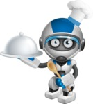 robot vector cartoon character design by GraphicMama - Cook