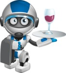 robot vector cartoon character design by GraphicMama - Waiter