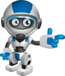 robot vector cartoon character design by GraphicMama - Point