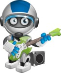 robot vector cartoon character design by GraphicMama - Musician
