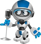 robot vector cartoon character design by GraphicMama - Singer