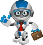 robot vector cartoon character design by GraphicMama - Businessman
