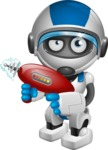 robot vector cartoon character design by GraphicMama - Gun 2