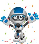 robot vector cartoon character design by GraphicMama - Celebrate