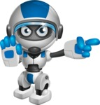 robot vector cartoon character design by GraphicMama - Direct Attention