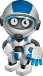 robot vector cartoon character design by GraphicMama - Soccer