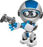 robot vector cartoon character design by GraphicMama - Game