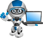 robot vector cartoon character design by GraphicMama - Laptop 2