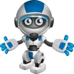 robot vector cartoon character design by GraphicMama - Sorry