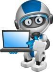 robot vector cartoon character design by GraphicMama - Laptop 3