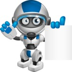 robot vector cartoon character design by GraphicMama - Sign 3