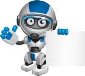 robot vector cartoon character design by GraphicMama - Sign 6
