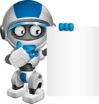 robot vector cartoon character design by GraphicMama - Sign 7