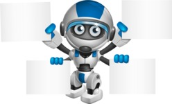 robot vector cartoon character design by GraphicMama - Sign 8