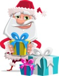 Santa Claus Cartoon Flat Vector Character - Being Bored