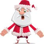 Santa Claus Cartoon Flat Vector Character - Feeling Lost