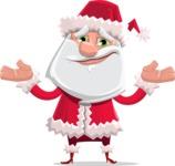 Santa Claus Cartoon Flat Vector Character - Feeling Sorry