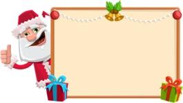 Santa Claus Cartoon Flat Vector Character - Making a Christmas Presentation Template