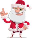 Santa Claus Cartoon Flat Vector Character - Making a Point