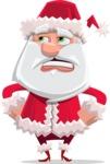 Santa Claus Cartoon Flat Vector Character - Rolling Eyes