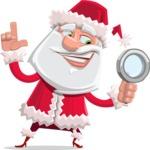Santa Claus Cartoon Flat Vector Character - Searching