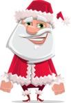 Santa Claus Cartoon Flat Vector Character - Smiling
