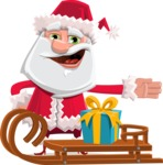 Santa Jolly Bells - Sled With Gift