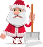 Santa Jolly Bells - Cleaning The Snow