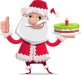 Santa Jolly Bells - With Cake