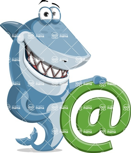 Shark Cartoon Vector Character - 112 Poses - With Email Sign