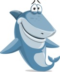 Shark Cartoon Vector Character AKA Sharko Polo - Feeling Sorry