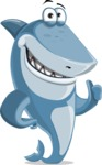 Shark Cartoon Vector Character AKA Sharko Polo - Making a Point