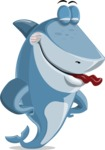 Shark Cartoon Vector Character AKA Sharko Polo - Making Funny Face