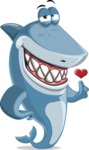 Shark Cartoon Vector Character AKA Sharko Polo - Showing Love