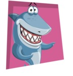 Shark Cartoon Vector Character - 112 Poses - With a Square Shape Background