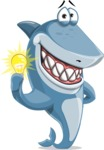Shark Cartoon Vector Character AKA Sharko Polo - With an Idea