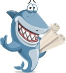 Shark Cartoon Vector Character AKA Sharko Polo - With Business Plans
