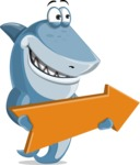 Shark Cartoon Vector Character - 112 Poses - With Forward Arrow