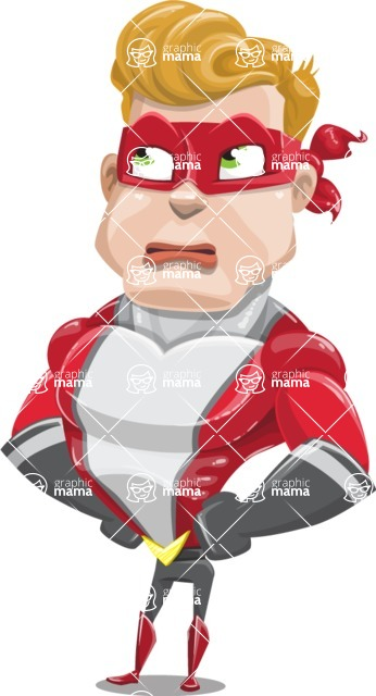 superhero vector cartoon character - Mister Magnetic - Roll Eyes