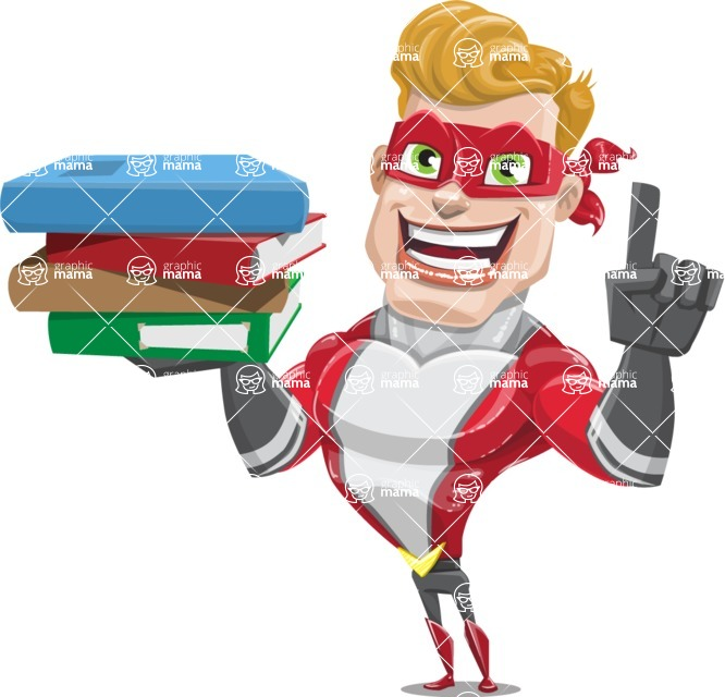 superhero vector cartoon character - Mister Magnetic - Book 2