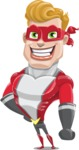 superhero vector cartoon character - Mister Magnetic - Normal