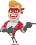 superhero vector cartoon character - Mister Magnetic - Point 2